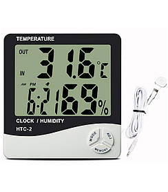 Цифровой термомогигрометр с датчиком HTC-2