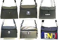 Молодёжные сумки-барсетки на плечо Likee,Philip Plein,Fendi,Instagram из текстиля (4 цета)22*32см