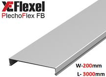 Крышка лотка цельнометаллическая, оцинкованная 200x3000x0,6 мм Plechoflex FM