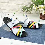 Шлепанцы женские кожаные разноцветные. Ортопедическая подошва., фото 2