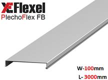 Крышка лотка цельнометаллическая, оцинкованная 100x3000x0,6 мм Plechoflex FM