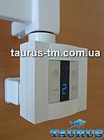 Квадратный белый ТЭН KTX4 MS c маскировкой провода: экран +регулятор +таймер до 4ч. (под пульт ДУ). Польша