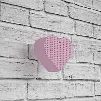 Декоративное сердце из пенополистирола размером 100х110х50 мм. Декор для фотозоны.