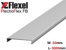 Крышка лотка цельнометаллическая, оцинкованная 50x3000x0,6 мм Plechoflex FM
