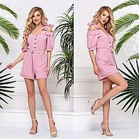 """Романтичні жіночі комбінезони рожеві літні """"Керрі"""", фото 1"""