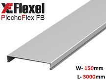 Крышка лотка цельнометаллическая, оцинкованная 150x3000x0,6 мм Plechoflex FM
