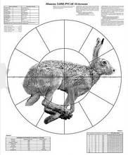 Мішень Пристрілювальні 16 - дольная Заєць 830 x 1070 мм