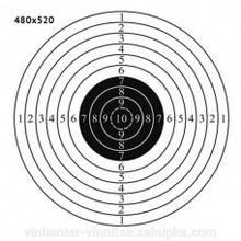 Мішень 480 х 520 мм Світлий коло