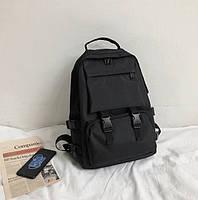 Городской молодежный практичный рюкзак Ski Black с карманами