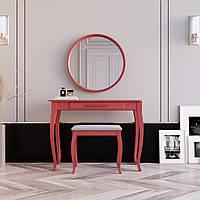 """Туалетний столик з дзеркалом та банкеткою """"Болонія Червона"""", фото 1"""