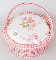 Шкатулка для рукоделия Bona Мастерица Provence Basket Pink Cart 23.5х23.5х12 см psgBD-400-57, КОД: 1132795