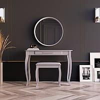 """Туалетный столик с зеркалом и банкеткой """"Болония Светло-серая"""", фото 1"""