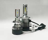 "Лампа LED H1 вентилятор 4700Lm ""Fantom"" NEW /CSP/36W/5500K/IP65/8-48v (2шт) 9мес.гарантия"
