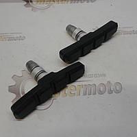 Колодки тормозные вело V-brake (2шт, регулировка шестигранником)  'ALHONGA', фото 1