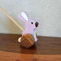 Деревянная игрушка SUNROZ для детей зайчик-попыхайчик Лиловый (7143)