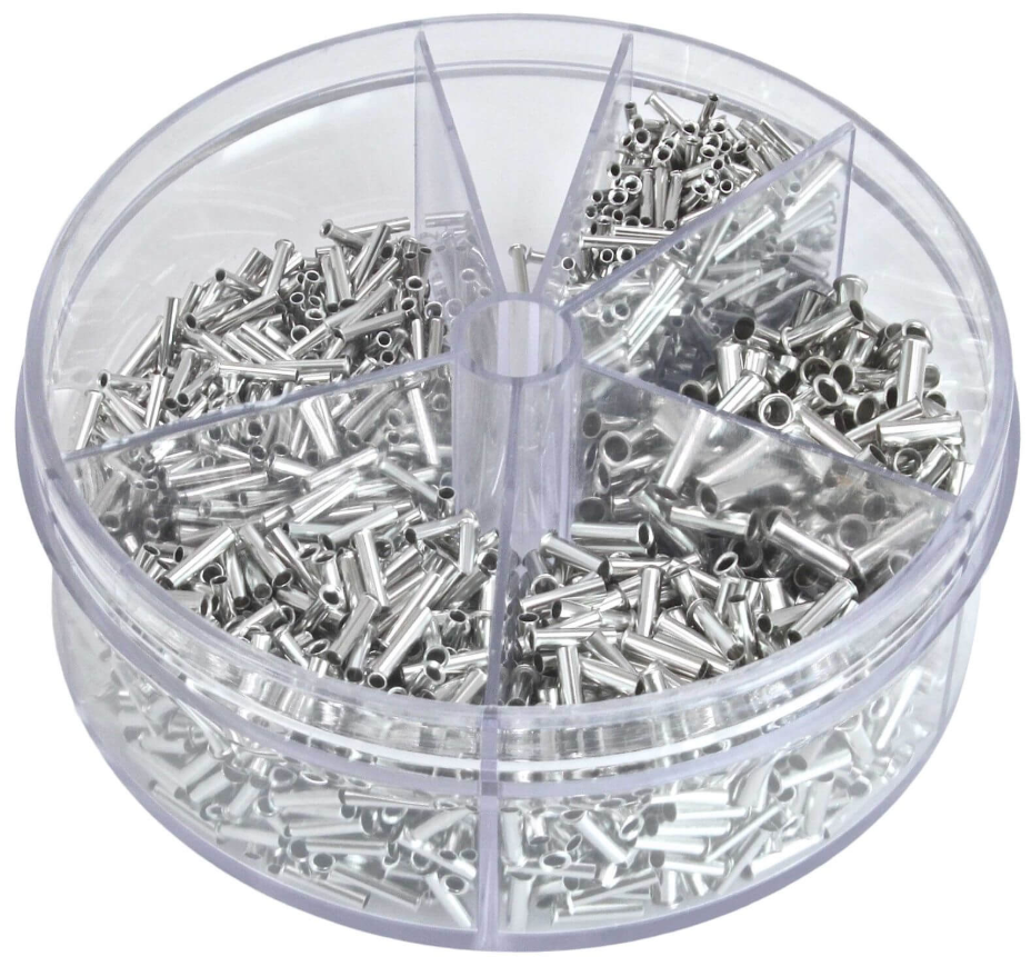 Набор металлических наконечников на провода 1900 шт. ASTA A-TC512