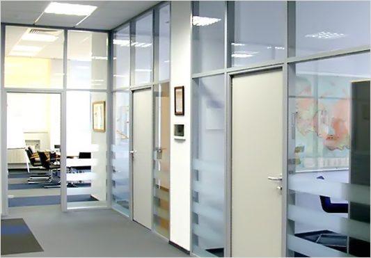 Алюминиевые офисные перегородки NAYADA ORMAN LUX