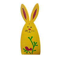 "Фигура из пенополистирола ""Заяц желтый"" размером 600х255х50мм. Декор для фотозоны."