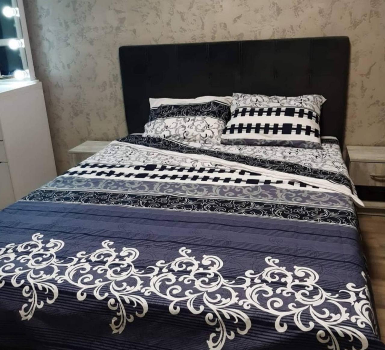 Комплект постельного белья полуторный Бязь GOLD 100% хлопок Вензель джинс