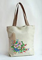 Пошита сумка для вишивки Рожева шипшина