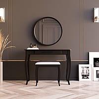 """Туалетный столик с зеркалом и банкеткой """"Болония Чёрная"""", фото 1"""