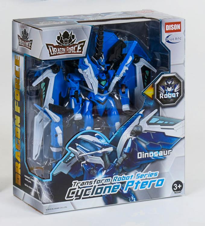 """Робот трансформер """"Dragon force"""" (Синий) трансформируется в динозавра"""