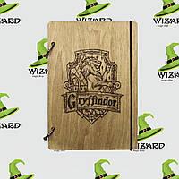 Деревянный блокнот А6 Гарри Поттер Гриффиндор (мореное дерево), фото 1