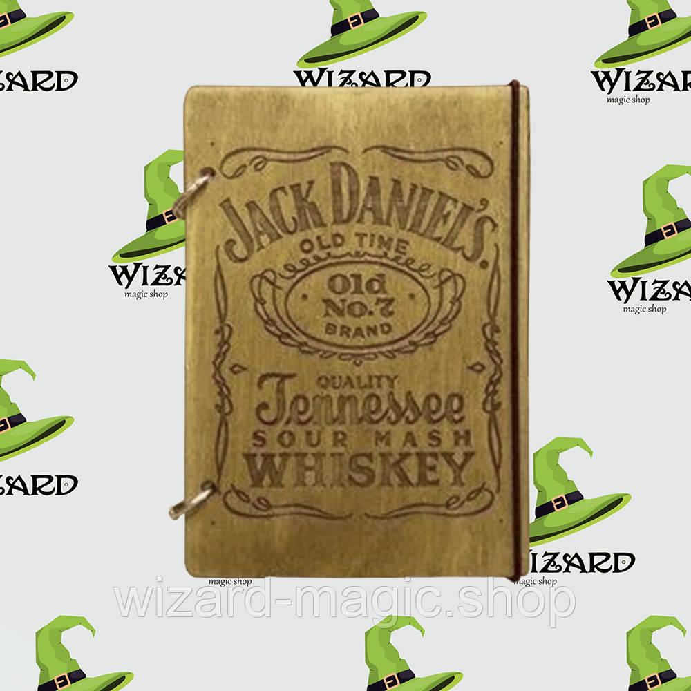 Деревянный блокнот А6 Джек Дениелс (мореное дерево)