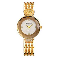 Женские наручные часы кварцевые Baosaili Gold-White