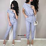 Женский костюм в полоску: блуза с поясом и брюки (в расцветках), фото 2