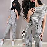 Женский костюм в полоску: блуза с поясом и брюки (в расцветках), фото 7