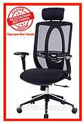 Офисное кресло Barsky BB-01 Black Сhrom, сеточное кресло