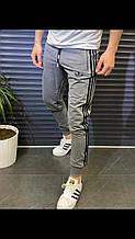 Мужские Спортивные Штаны в стиле Adidas серые молодежные Турция