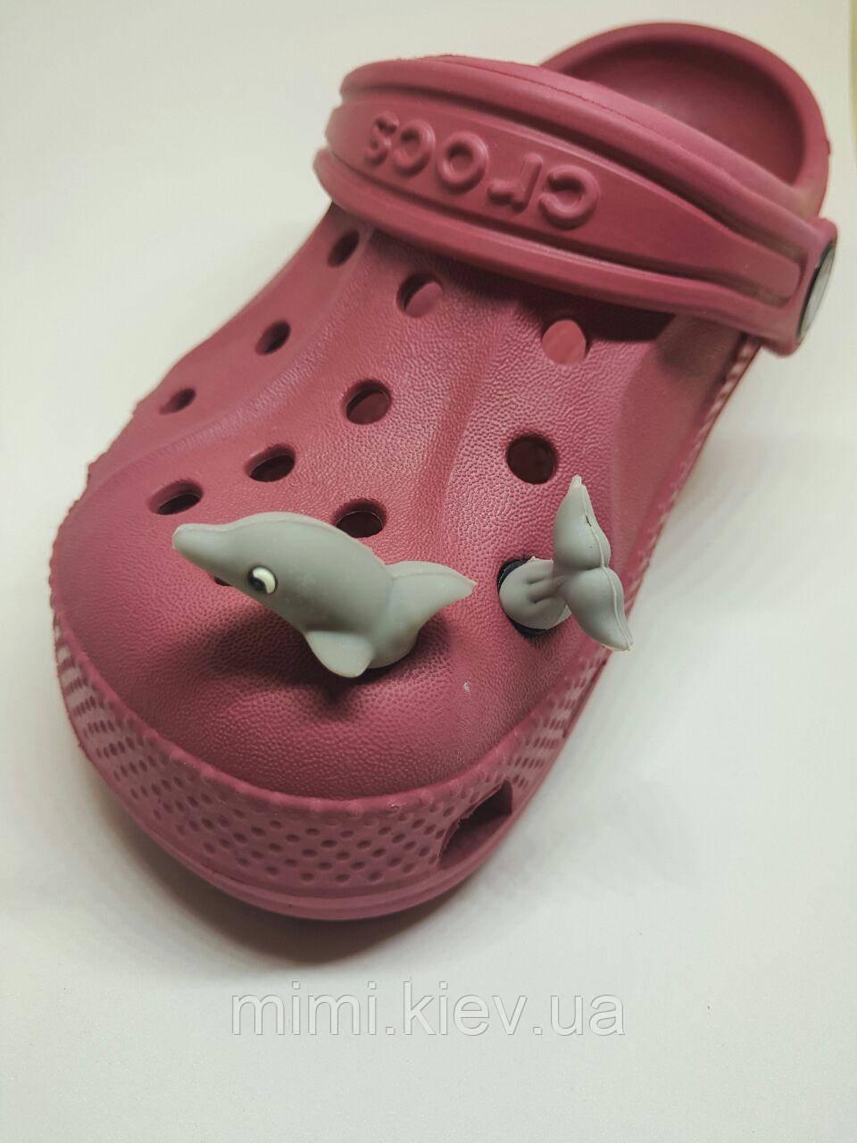 Джибитсы для Crocs Акула