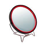 Зеркало косметическое круглое для бритья двустороннее с увеличением х2 на подставке TITANIA art.1500/MEN, фото 5