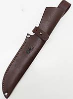 Чехол для ножа №7 кожаный коричневый 5*16 см
