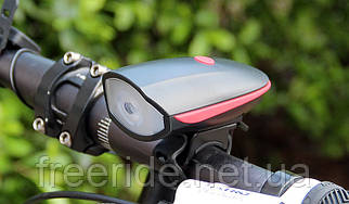 Велозвонок + велофонарь 250 люмен, диод Cree XPG