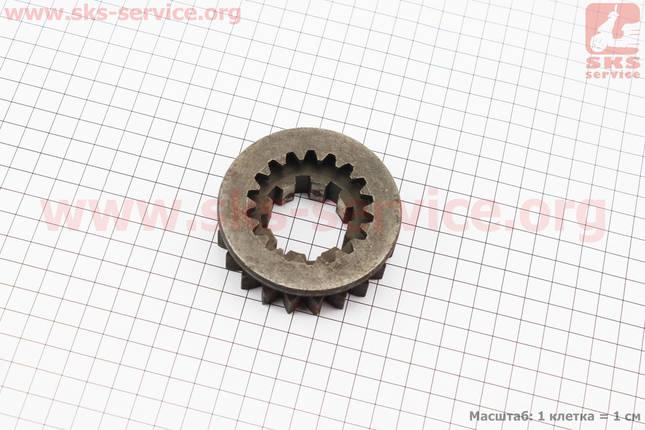 Шестерня 3 и 4 передачи подвижная КПП Z=8/21/18 DongFeng 354/404 (300.37.115-1), фото 2