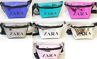Брендовые сумки на пояс ZARA (6 цветов ГОЛОГРАММА)12*30см