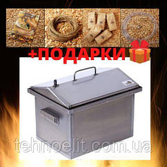Домашняя коптильня для горячего копчения домик 400х300х310