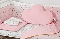 Комплект дитячої постілі Twins Dolce Insta 4075-D-508 Сердечка рожевий