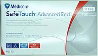 Перчатки нитриловые одноразовые нестерильные неопудренные красные / размер М / SAFETOUCH Advanced/ Medicom