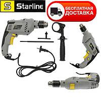 Дрель ударная электрическая для дома STARLINE (600 Вт) 3000 об / мин. Размер сверла от 1,5 до 13 мм. (ЧЕХИЯ)