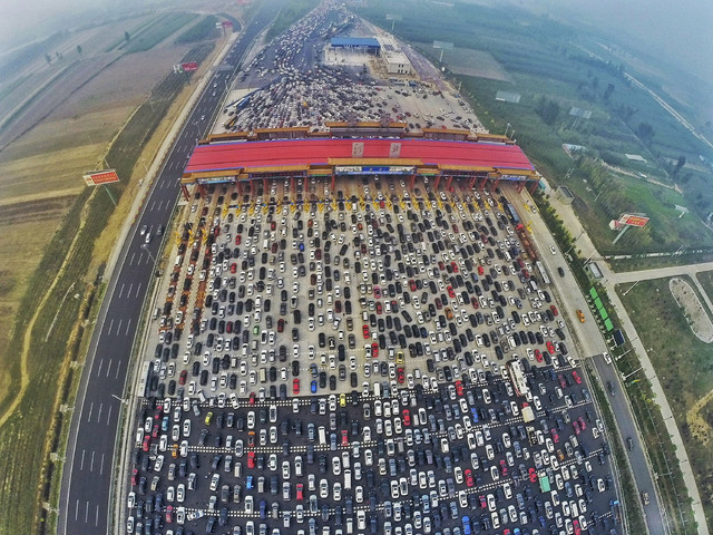Рекордная автомобильная пробка в Китае