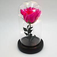 Роза в колбе Ukc с LED подсветкой 16 см Розовая VD166053595, КОД: 1629118