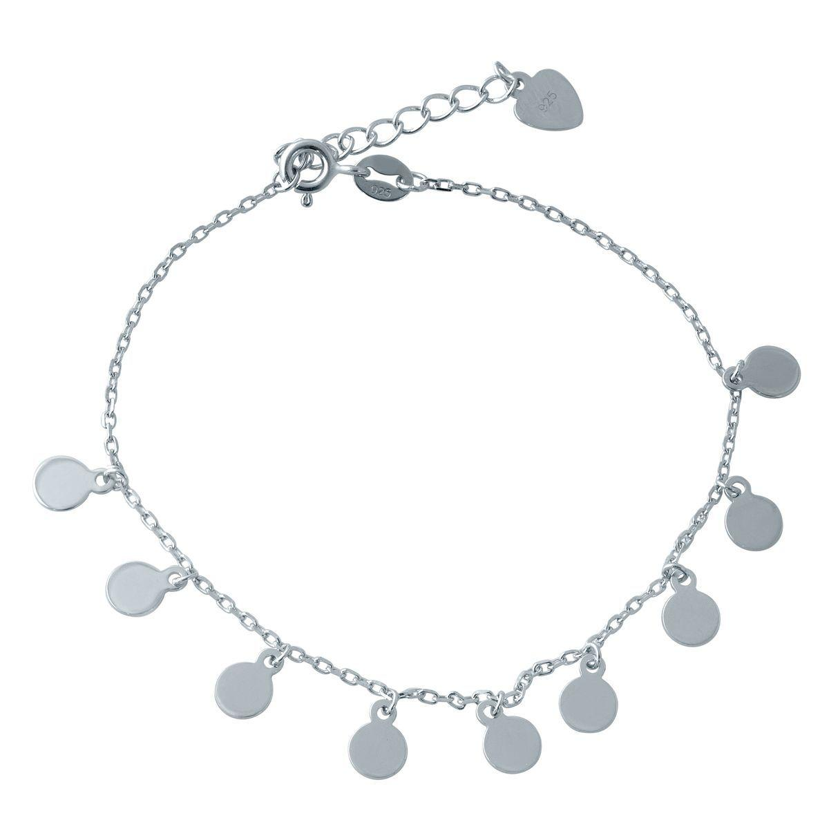 Серебряный браслет на ногу DreamJewelry без камней (2014386) 2326 размер