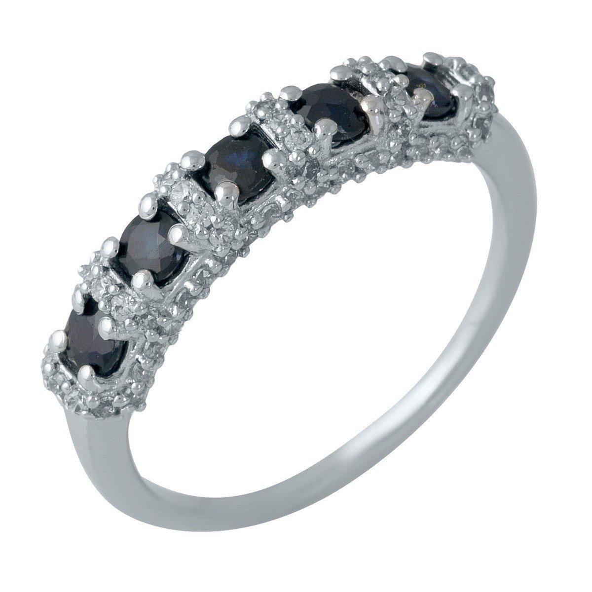 Серебряное кольцо DreamJewelry с натуральным сапфиром (1987629) 17 размер