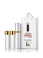 Міні-парфуми Giorgio Armani Code Sport, чоловічий 3х15 мл