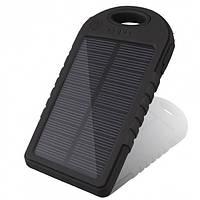 Power Bank с солнечной батареей Solar 30000 mAh 12 LED влагостойкий, портативная зарядка, павербанк