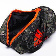 Сумка с оранжевым логотипом Adidas Boxing (зеленый камуфляж, ADIACC053B), фото 2